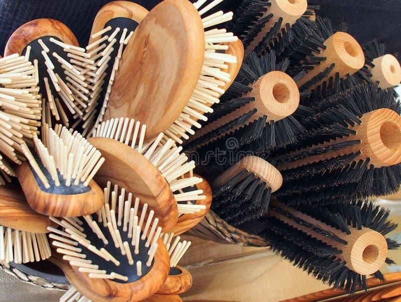 Haarborstels royalty-vrije stock foto's