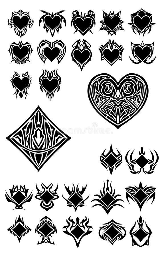 Haard en diamanten stock illustratie