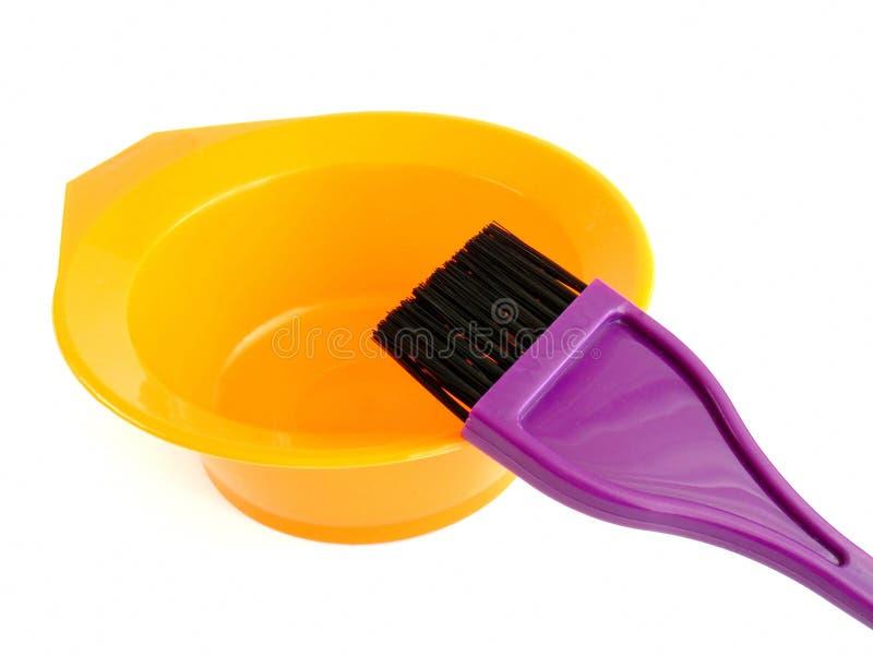 Haarfärbungssatz stockbilder