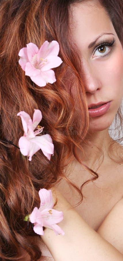 Haarfahne stockfoto