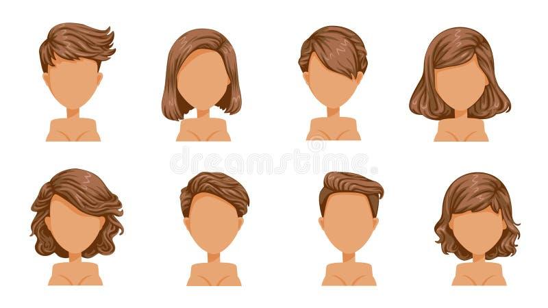 Haarfrauen vektor abbildung