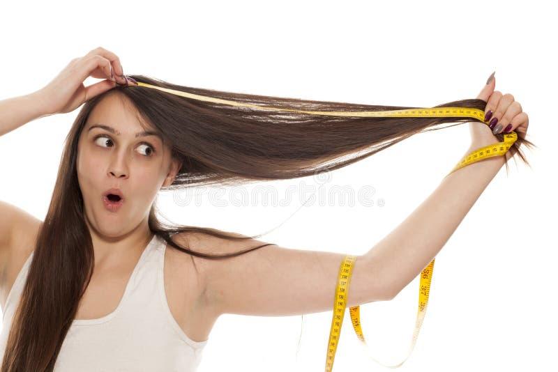 Haarlänge lizenzfreies stockbild