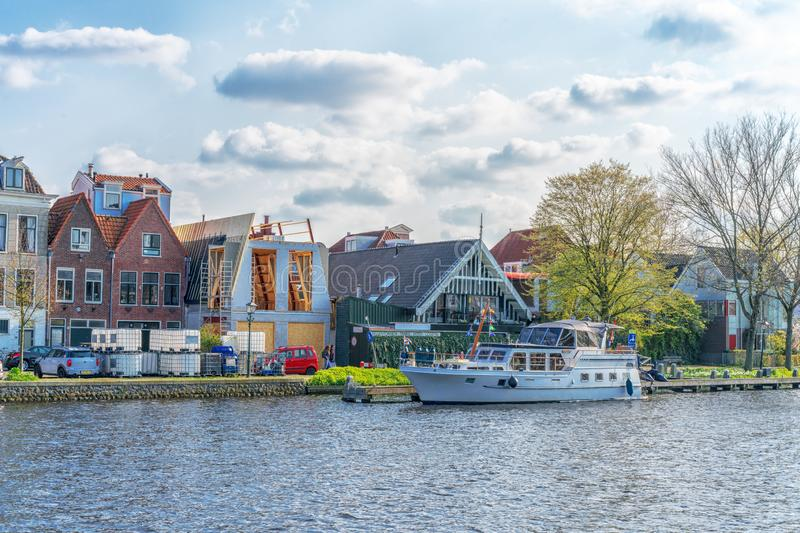 Haarlem, Netherlands – April 14, 2019: Haarlem canals and architecture, Netherlands royalty free stock photos