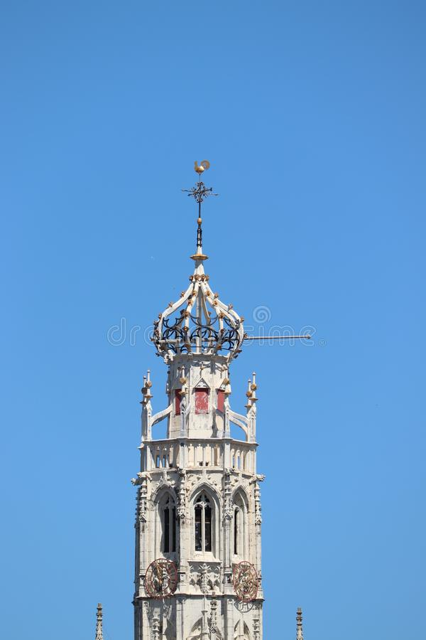 Haarlem holandie - Lipiec 8th 2018: Bakenesser kościół obraz stock