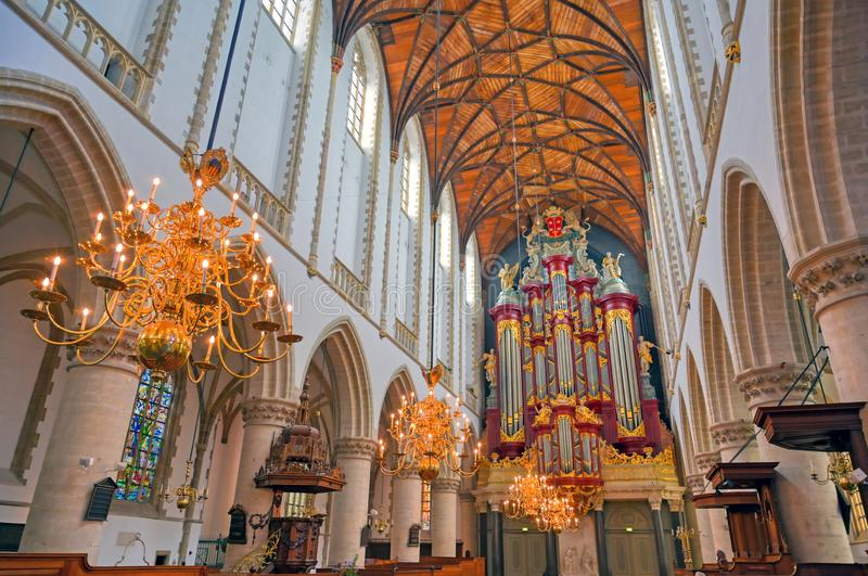 St. Bavo Church in Haarlem, the Netherlands royalty free stock images