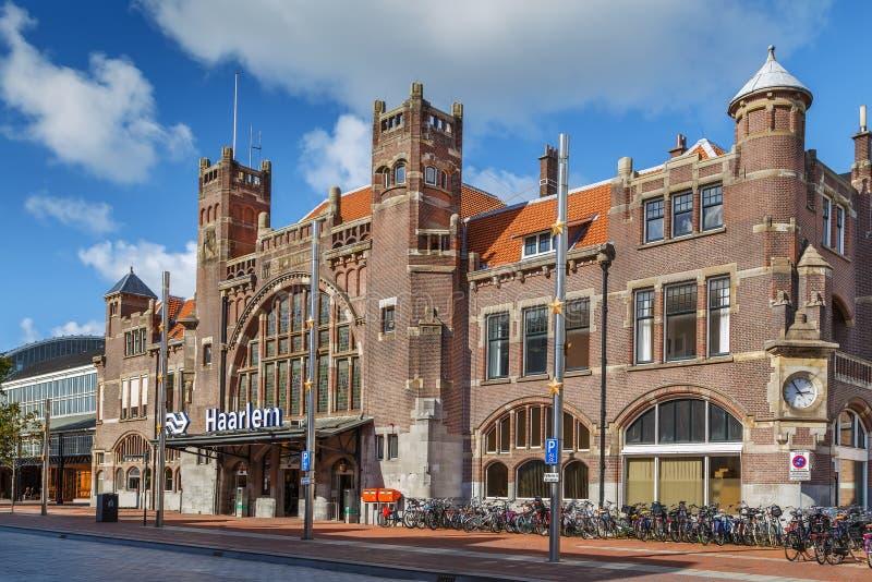 Haarlem railway station,  Netherlands stock images