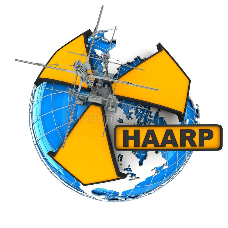 haarp royaltyfri illustrationer