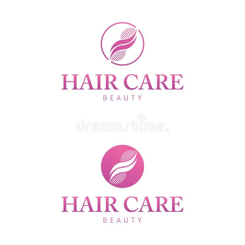 Haarpflege Logo Design Geschäft, brennend ein lizenzfreie abbildung