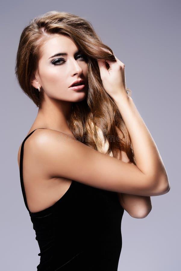 Haarpflege und Make-up stockfotografie