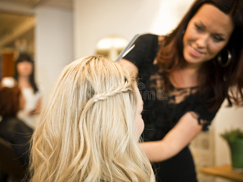 Haarsalonsituation lizenzfreies stockbild