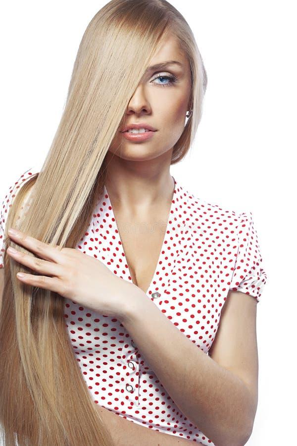 Haarschönheit lizenzfreies stockbild