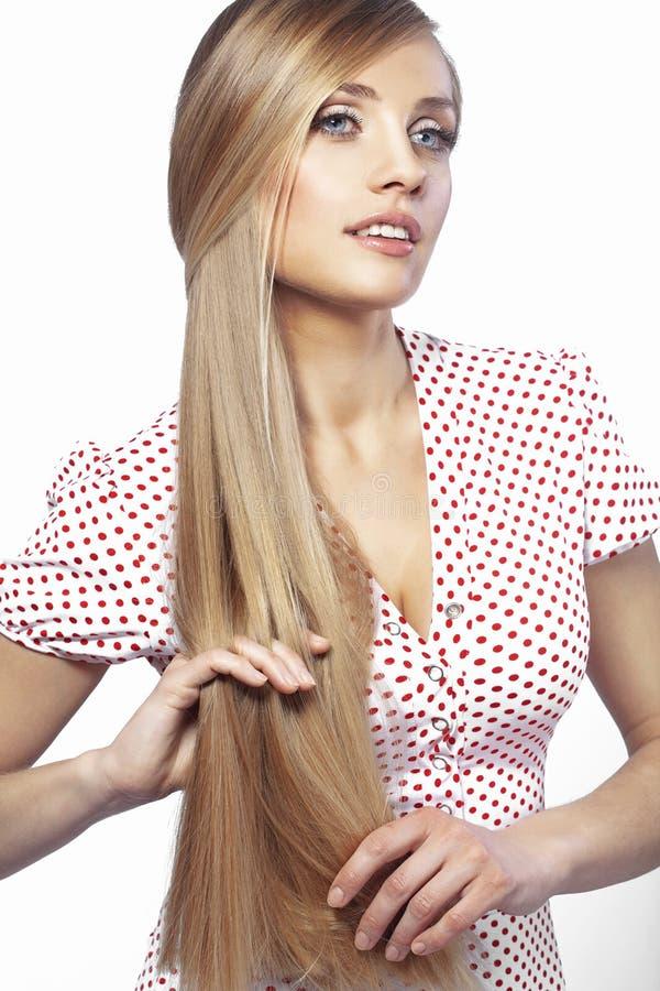 Haarschönheit stockbild