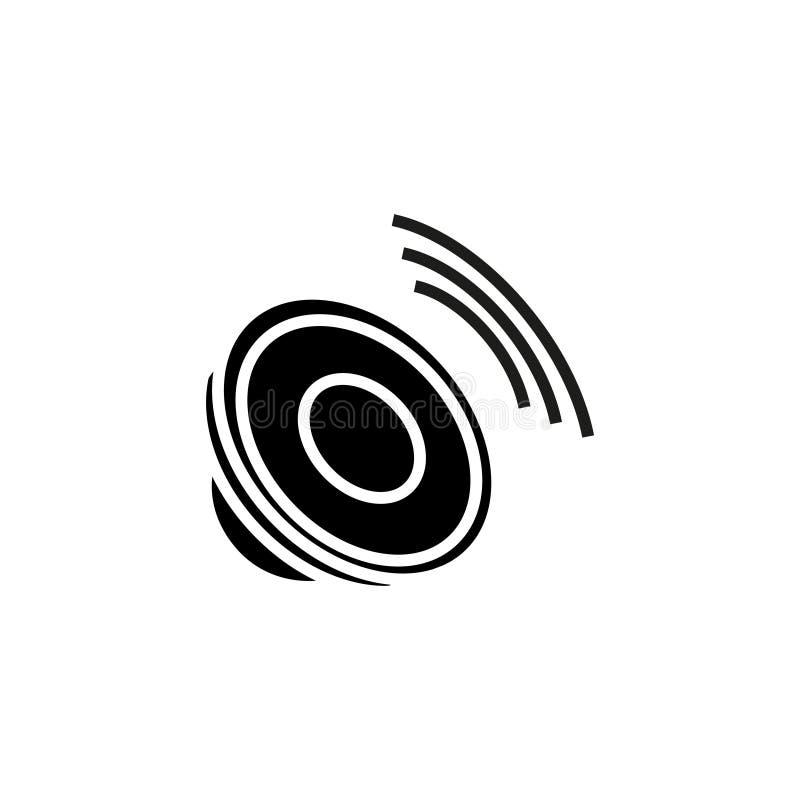 Haarscharfe solide Ikone, Sprecherikone - Illustration, stock abbildung