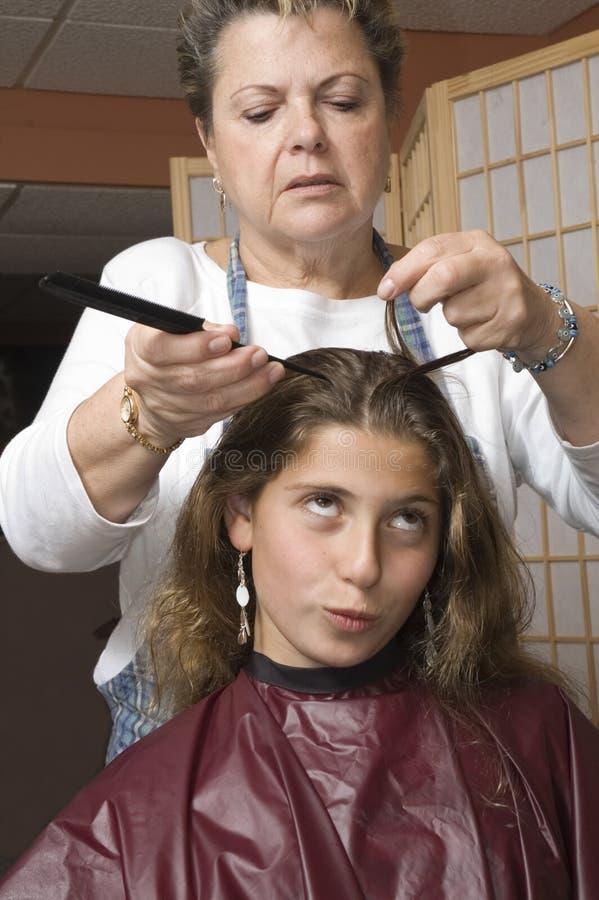 Haarschnitt 5 stockbild