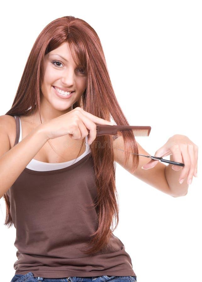 Haarsorgfalt stockfoto