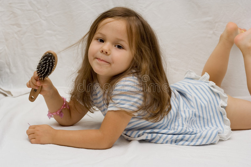 Haarsorgfalt stockfotos