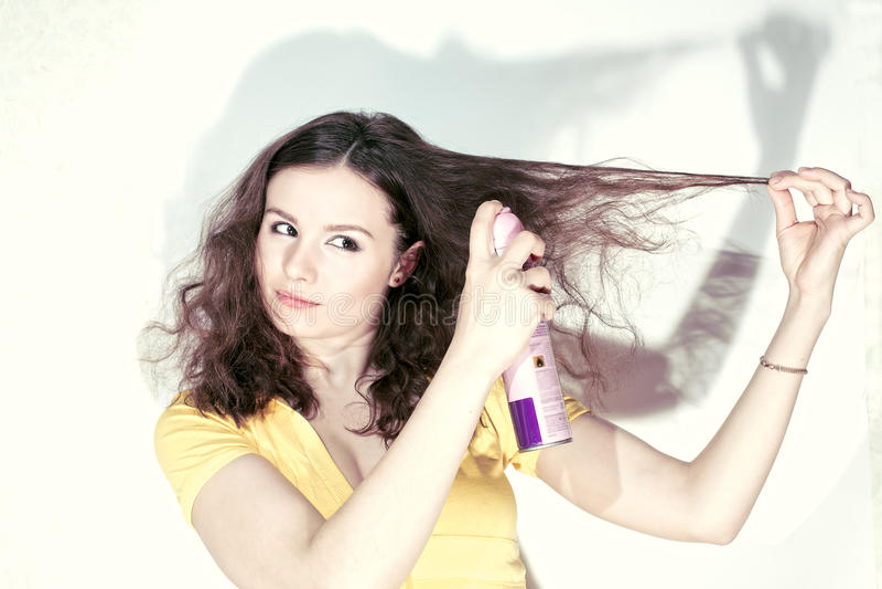 Haarspray stockbild