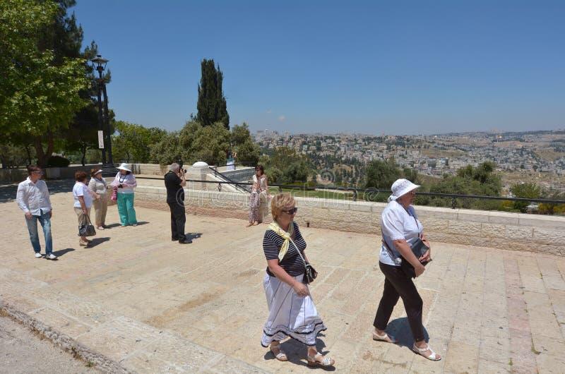 Haas散步在耶路撒冷-以色列 库存图片