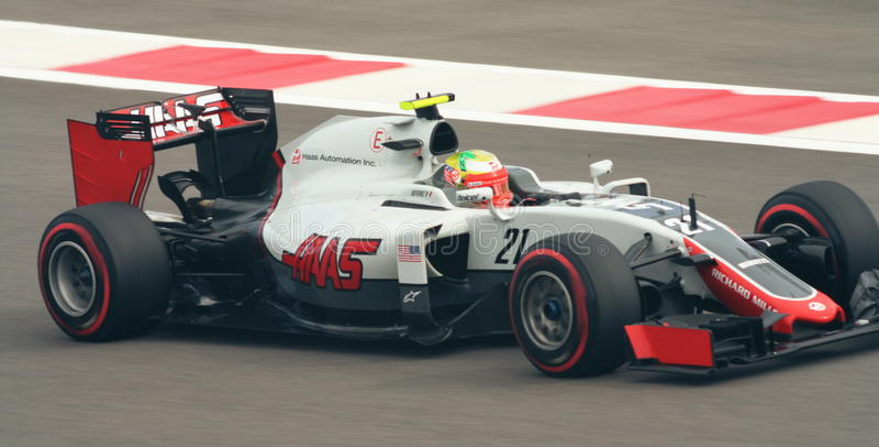 Haas Ferrari VF-16 Grand Prix F1 2016 royalty free stock image