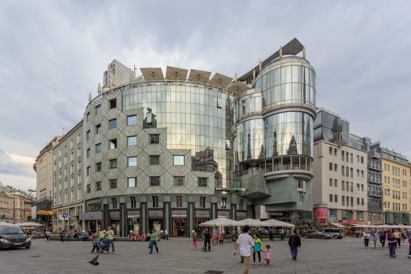 Haas-haus en stephansplatz en Viena imagen de archivo libre de regalías