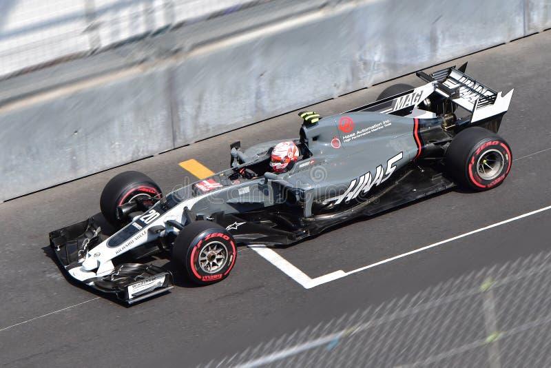 Haas-magnussen-GP Formule 1 MONACO 2017 stock foto