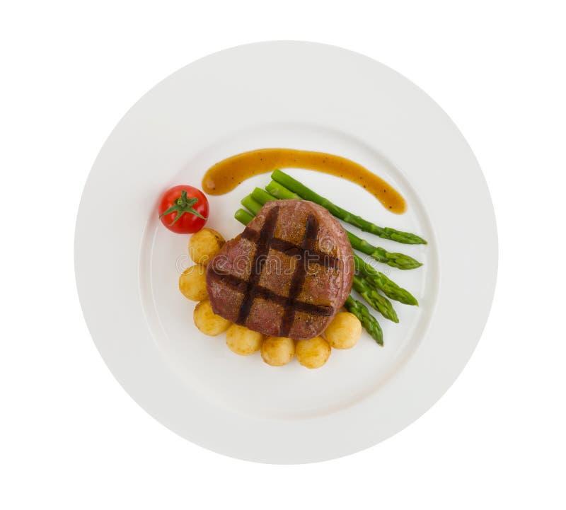 Haasbiefstuk geïsoleerdf lapje vlees royalty-vrije stock afbeeldingen