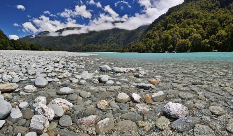 Haast rzeka - Nowa Zelandia fotografia stock