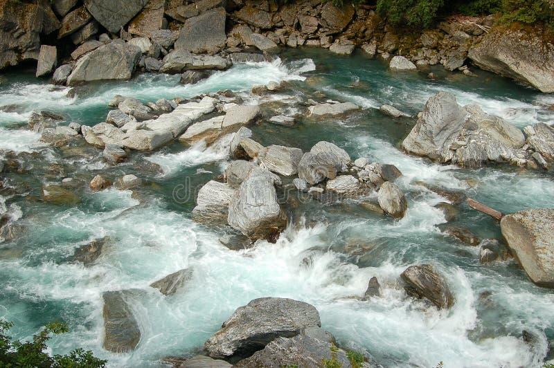Haast rzeka - Otago obrazy royalty free