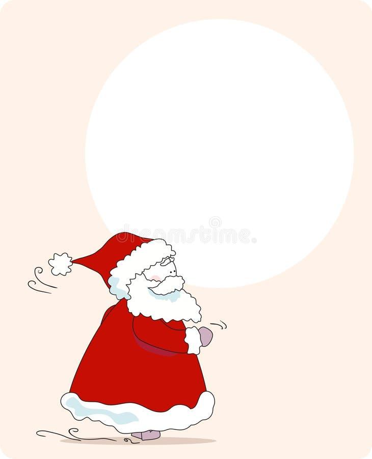 haast, santa! groet kaart royalty-vrije illustratie