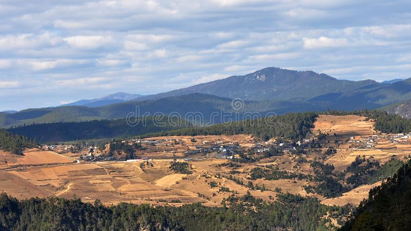 Haba Snow Mountain and Village royalty free stock image