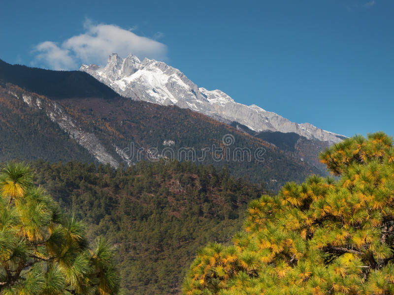 Haba Snow Mountain, Yunnan, China royalty free stock image