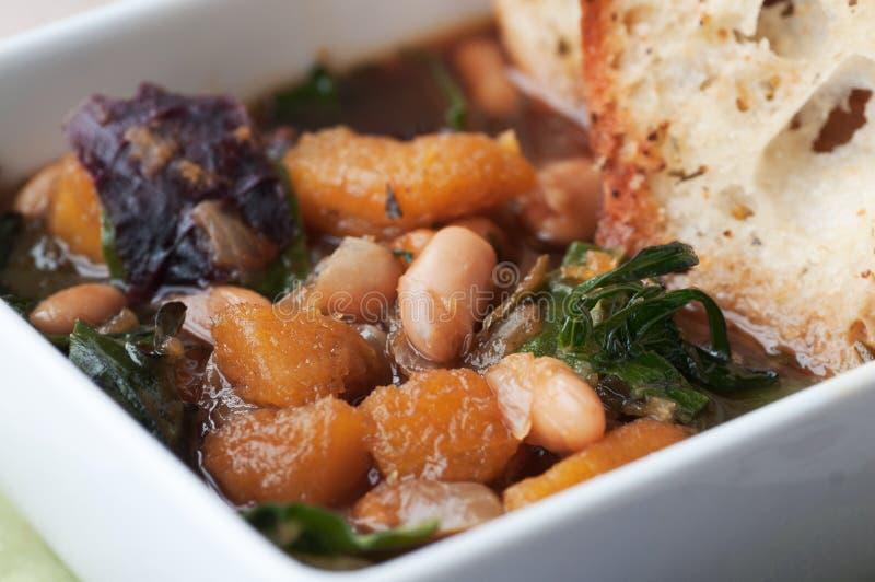 Haba y sopa de verduras imagen de archivo