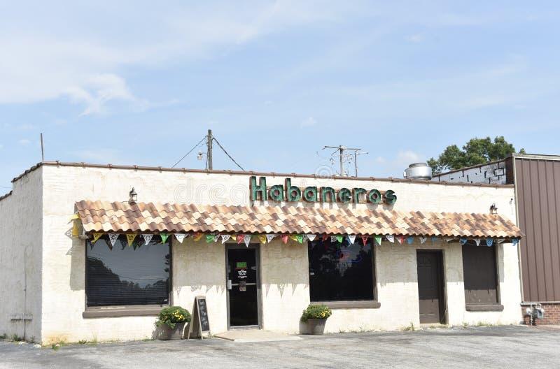 Habaneros Mexicaans Restaurant, Coldwater, de Mississippi stock afbeelding