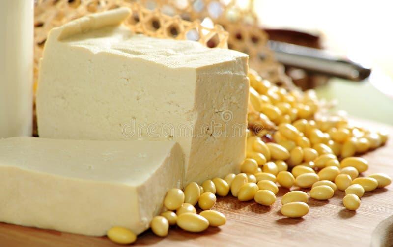 Habas del queso de soja y de la soja fotografía de archivo