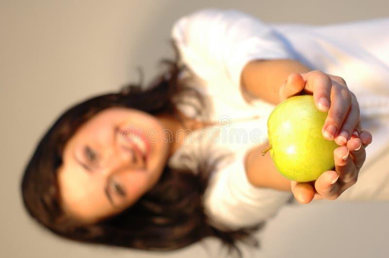 Haben Sie einen Apfel! lizenzfreie stockbilder