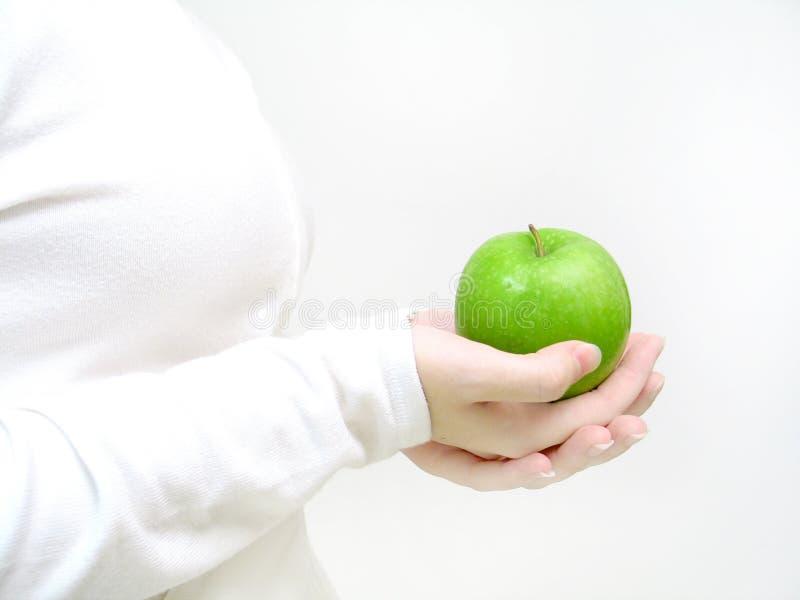 Haben Sie einen Apfel stockbild