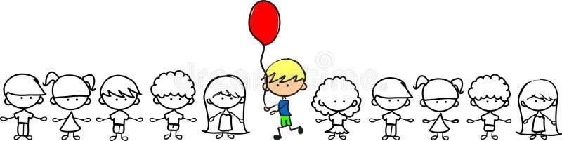 Haben Sie nicht Angst, nicht wie andere, nettes Kind zu sein lizenzfreie abbildung