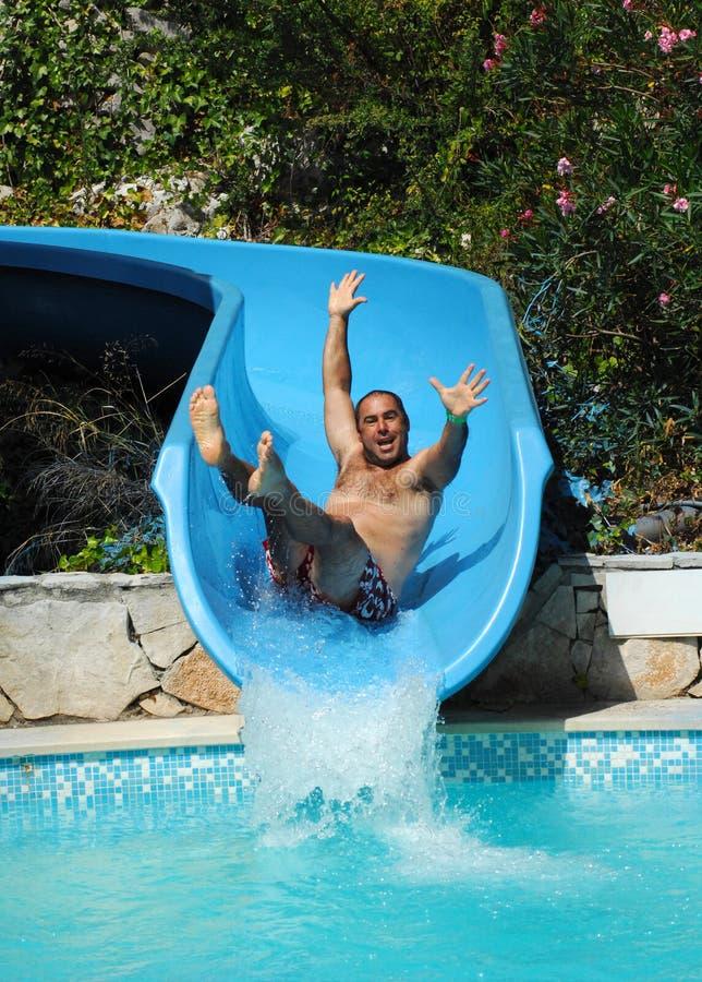 Haben Sie Spaß auf Aquapark lizenzfreies stockfoto