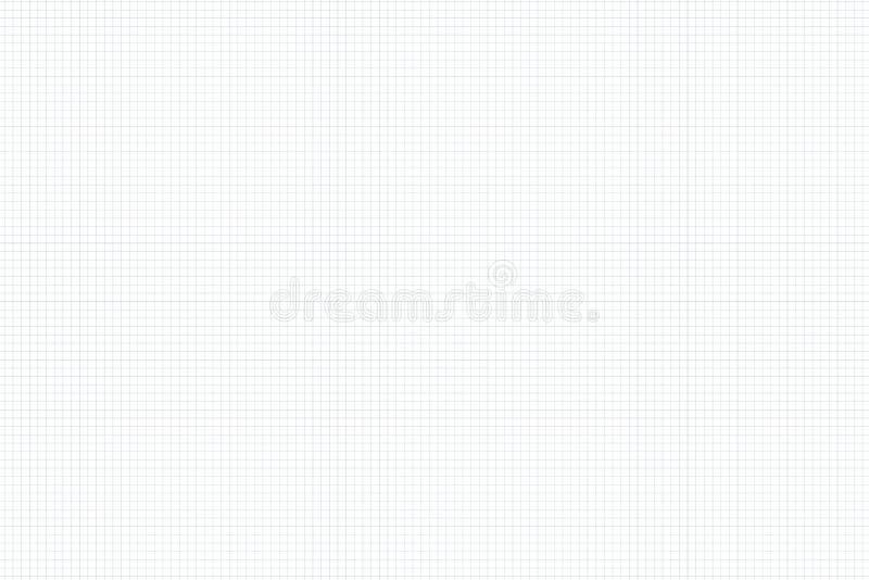 Haber ajustado horizontal, papel blanco de la matemáticas de la rejilla Fondo para la escuela ilustración del vector