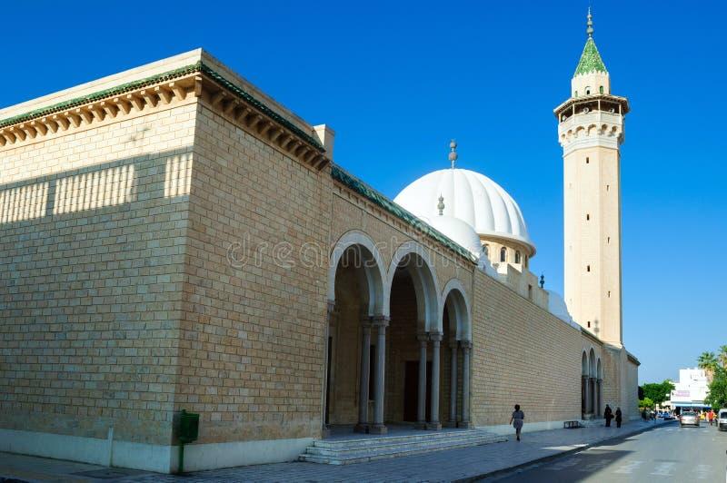 Habib Bourguiba moské som byggs i heder av den första presidenten av Tunisien, Monastir royaltyfri bild