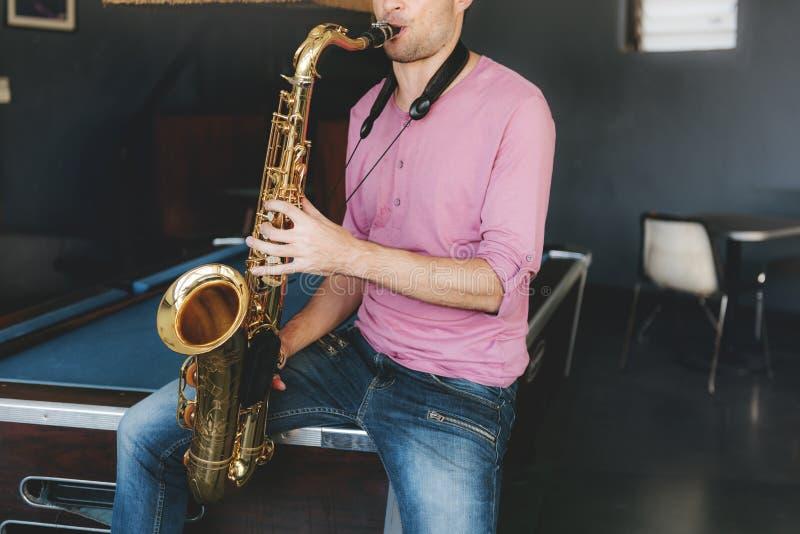 Habilidad clásica Jazz Symphony Music Concept del saxofón imagen de archivo libre de regalías