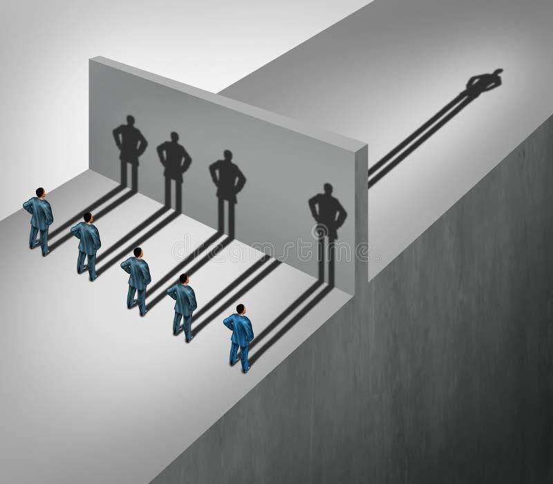 Habilidade da liderança ilustração royalty free