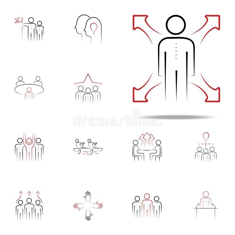 habilidade macia ícone tirado mão colorido Grupo universal dos ícones da equipe para a Web e o móbil ilustração royalty free