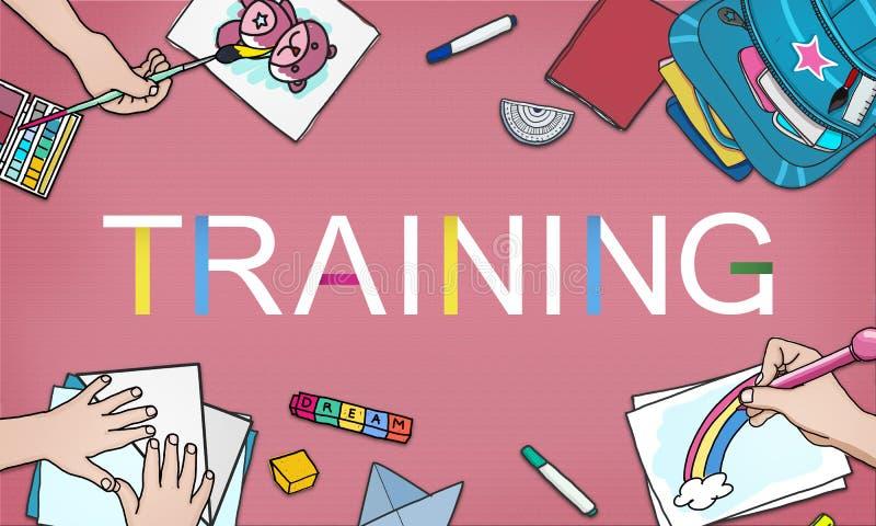 Habilidades de la capacidad de la educación del entrenamiento que estudian entrenando concepto libre illustration