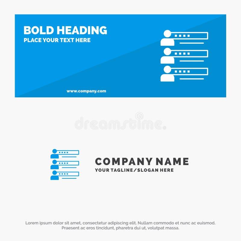 Habilidades, gráficos, gente, perfil, ajustes, estadísticas, bandera sólida y negocio Logo Template de la página web del icono de libre illustration