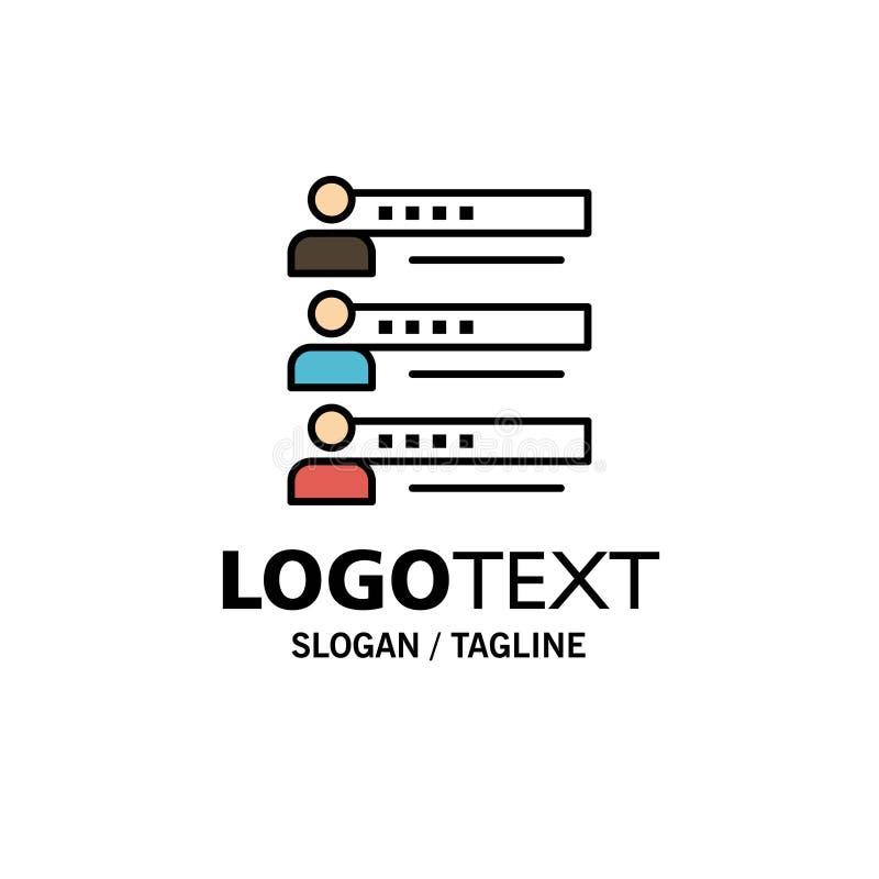 Habilidades, gráficos, gente, perfil, ajustes, estadísticas, Team Business Logo Template color plano ilustración del vector