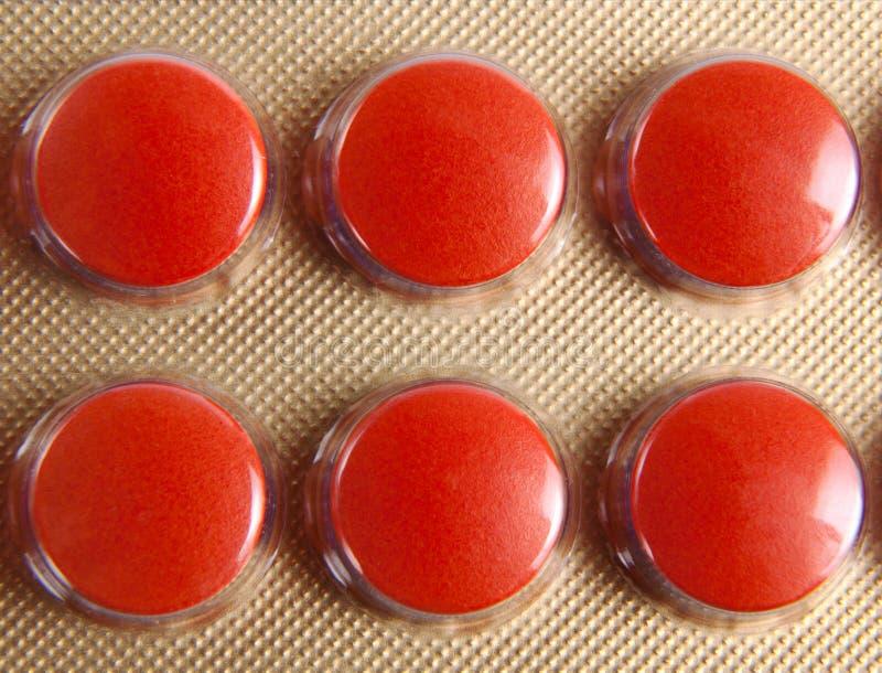 Habillage transparent de fond de médicament de pilules images libres de droits