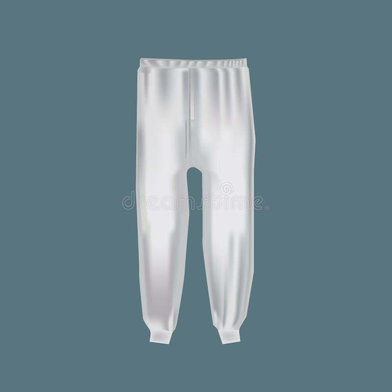 Habillement du ` s d'hommes de maquette, calibres Le ` s d'hommes folâtre le pantalon pour des sports actifs illustration stock