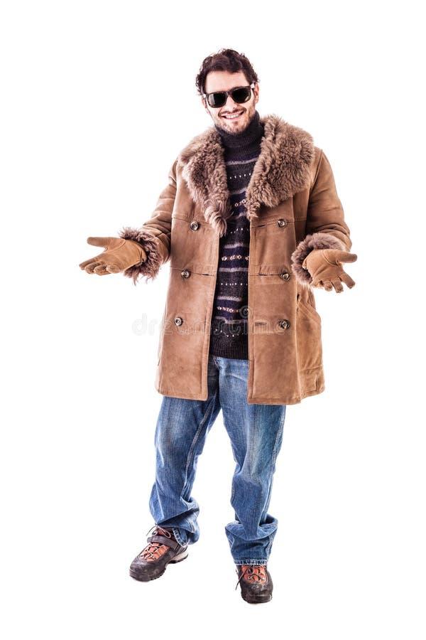 Download Habillement facile d'hiver photo stock. Image du brun - 45360682