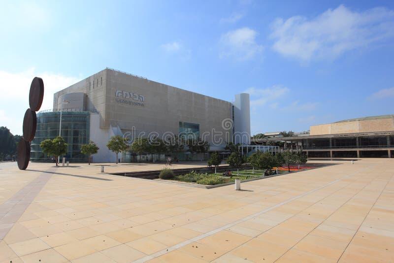 Habima-Quadrat-Theater u. Auditorium, Israel stockfotografie